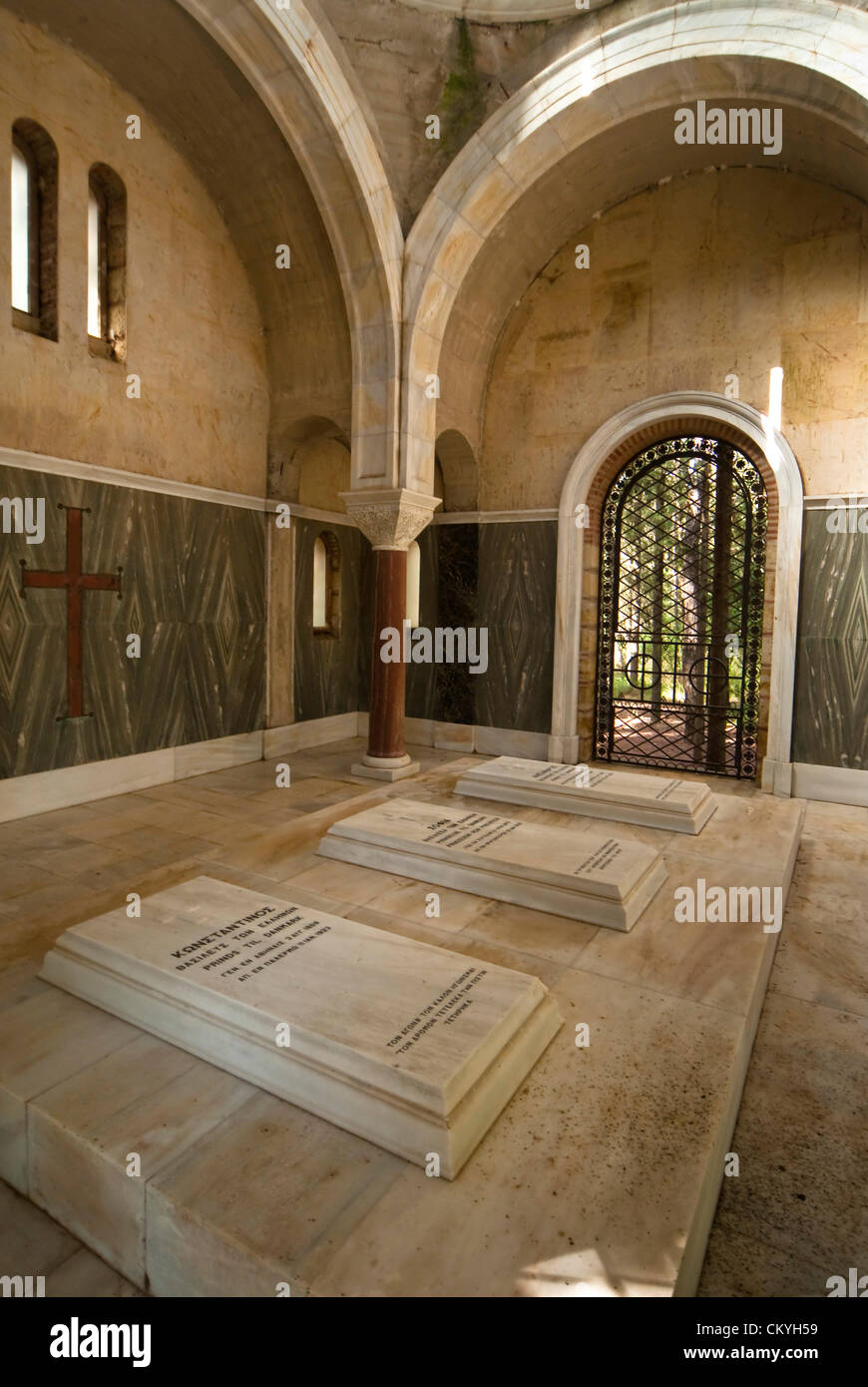 Tatoi Grave In The Mausoleum From Left To Right King