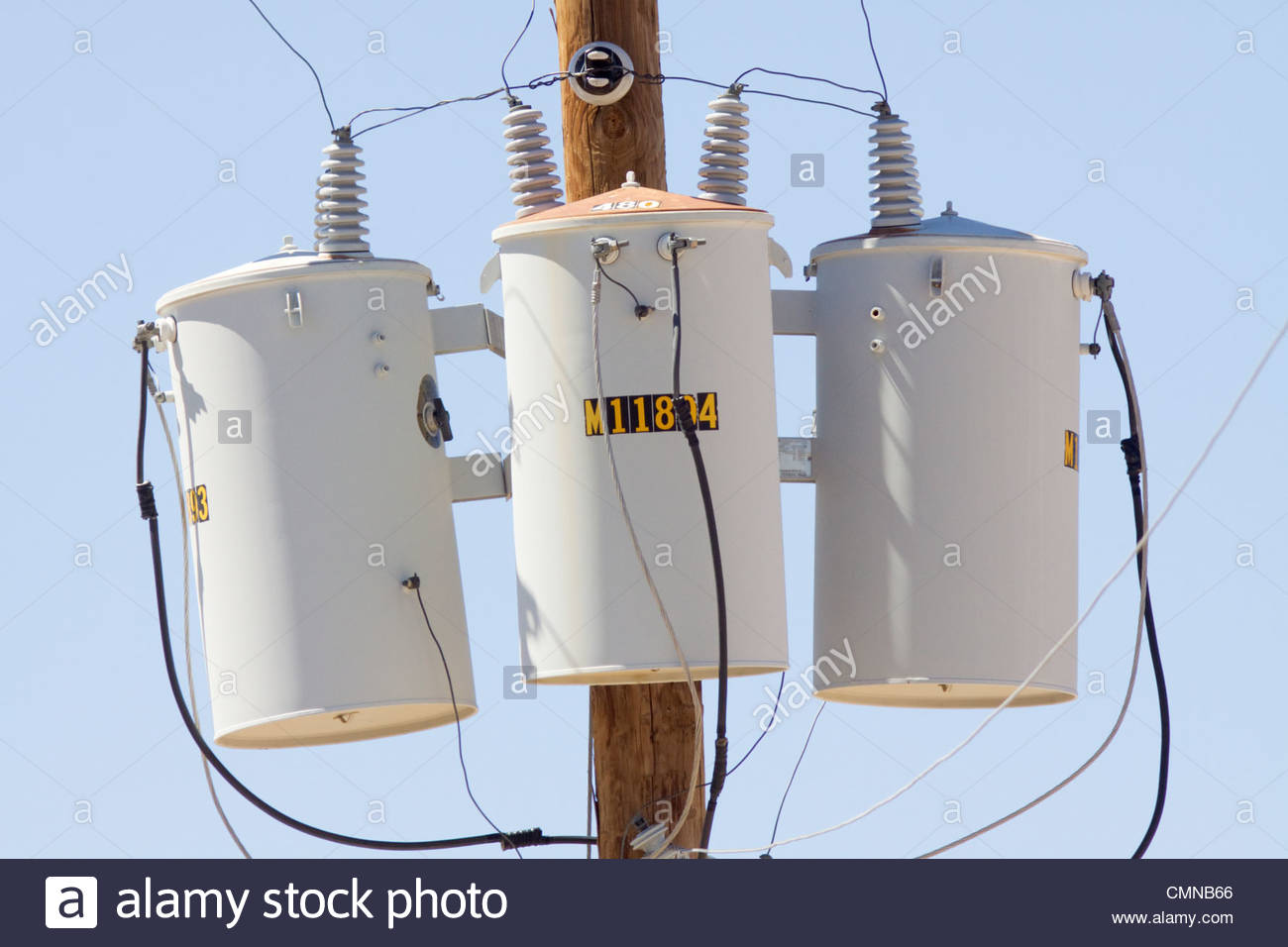 Three Phase Transformers Mounted Power Pole New Mexico