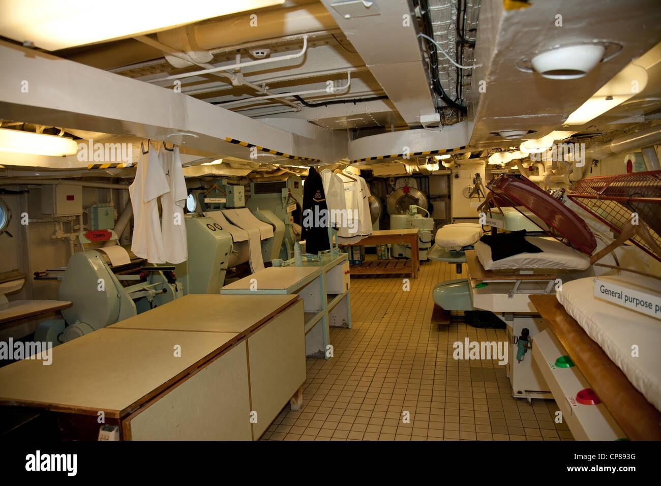 Laundry Room Inside The Royal Yacht Britannia Edinburgh