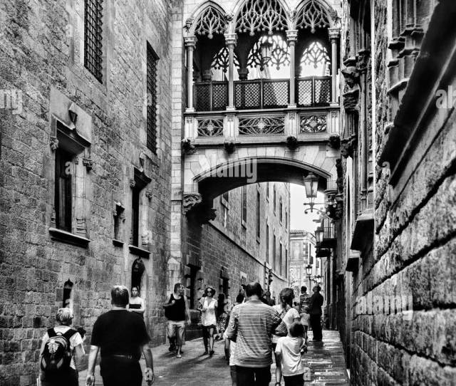 The Bridge Of Sighs In Barcelonas Gothic Quarter Barcelona Spain