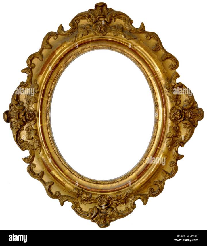 Picture Frame Gold Oval | secondtofirst.com