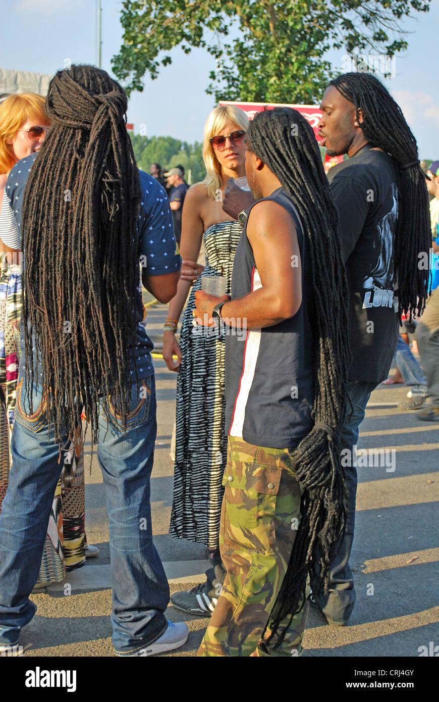 Men With Dreadlocks On Music Festival Summerjam 2009