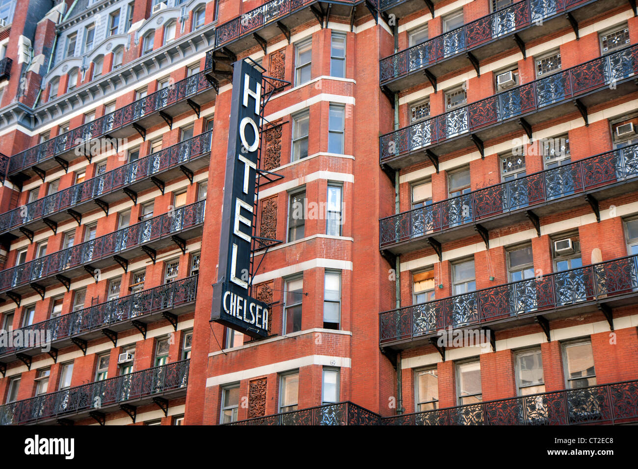 Building Of The Chelsea Hotel In New York It S A Historic Landmark Stock Photo Alamy