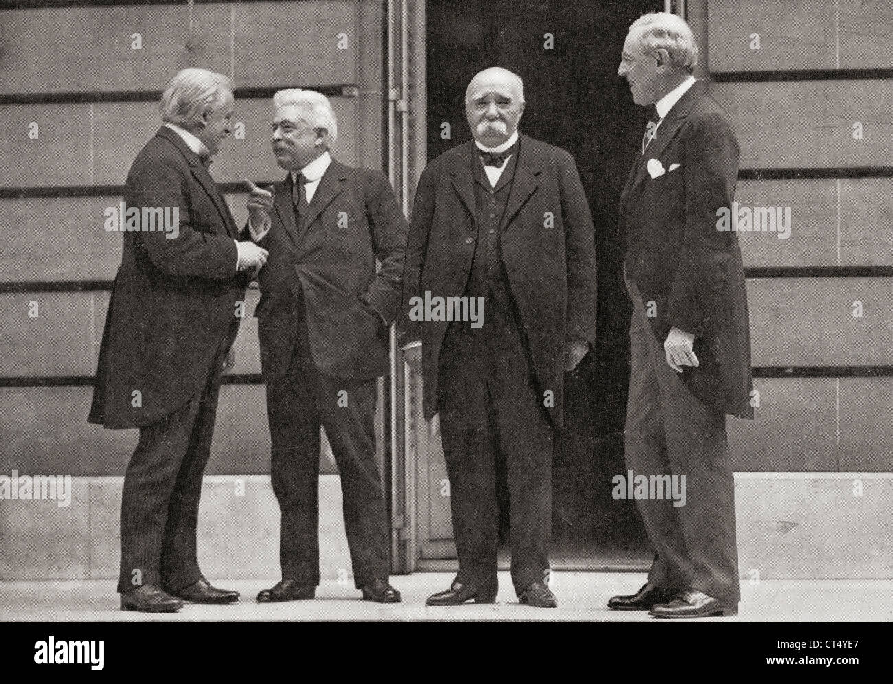 The Big Four At Versailles Peace Treaty From Left