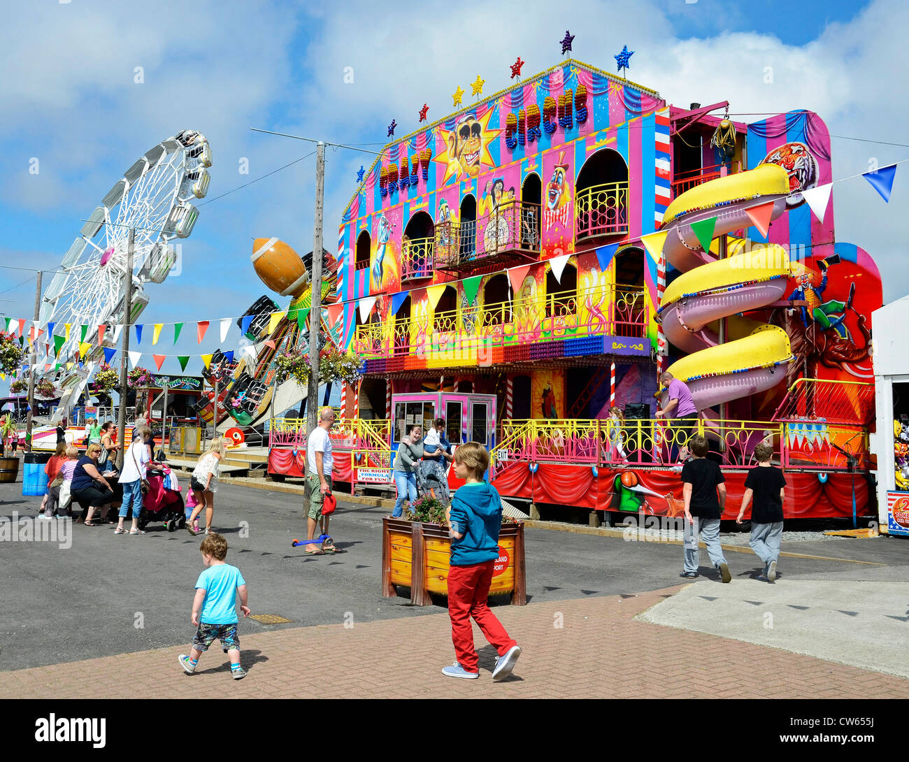 A Sunny Day At Pleasureland Fairground In Southport