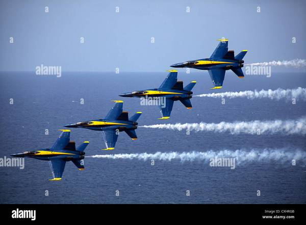 The U.S. Navy Flight Demonstration Squadron, the Blue ...