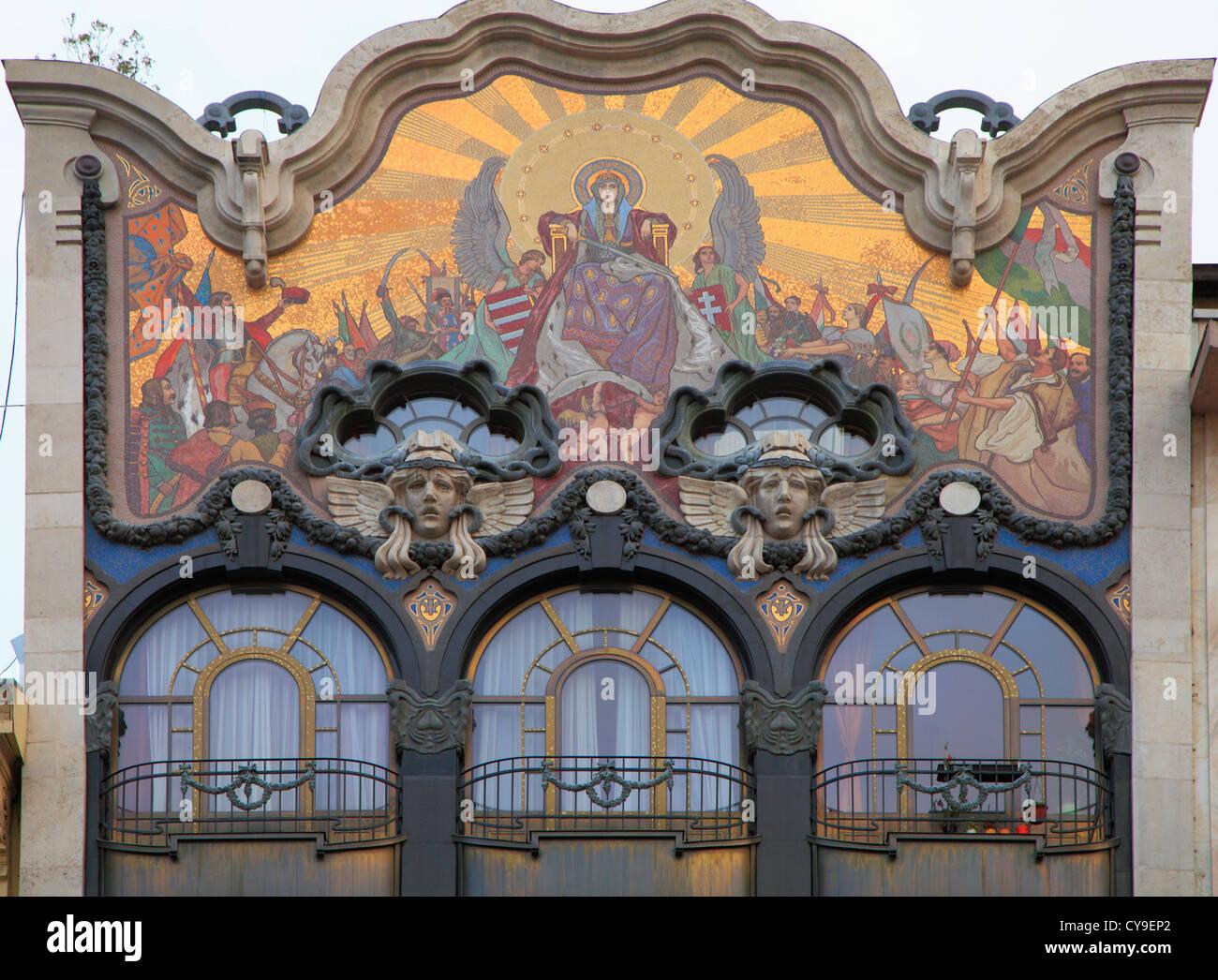 Best Kitchen Gallery: Hungary Budapest Art Nouveau Architecture Detail Stock Photo of Art Nouveau Architecture on rachelxblog.com