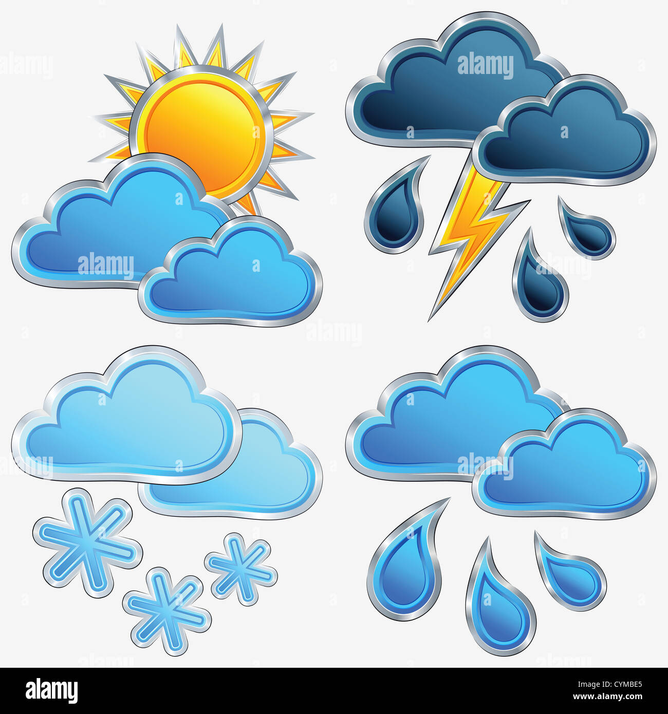 Vector An Icon Of Weather Sun Moon Star Cloud Rain