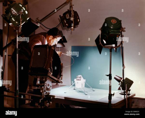 An early prototype Lunar Module LM is photographed NASA Manned Stock Photo 52071853