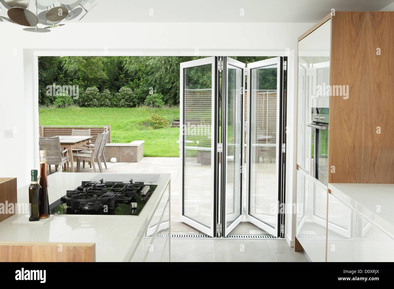 https www alamy com stock photo kitchen with open patio doors 52220418 html