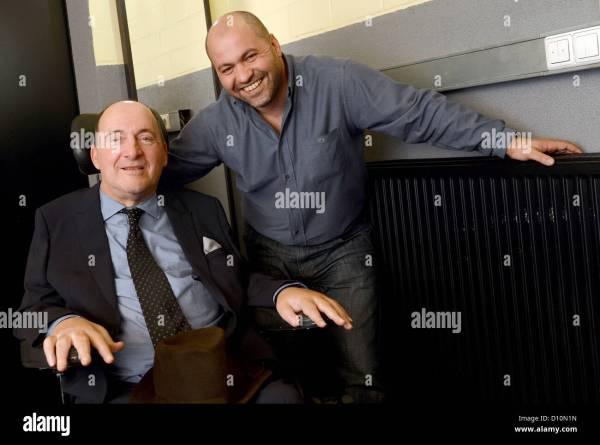 Abdel Sellou R and Philippe Pozzo di Borgo pose for a