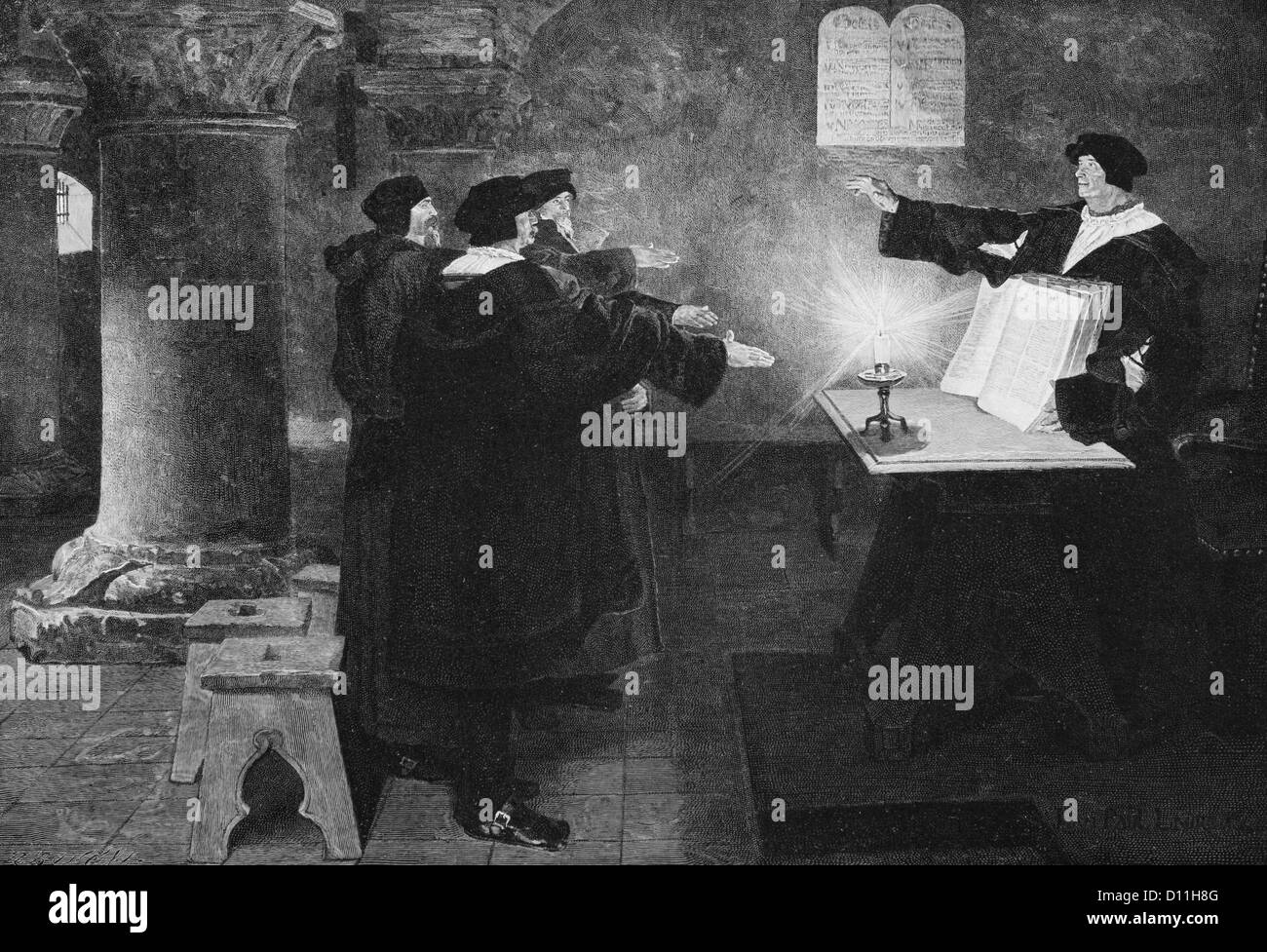 S Illustration Martin Luther German Leader Of The
