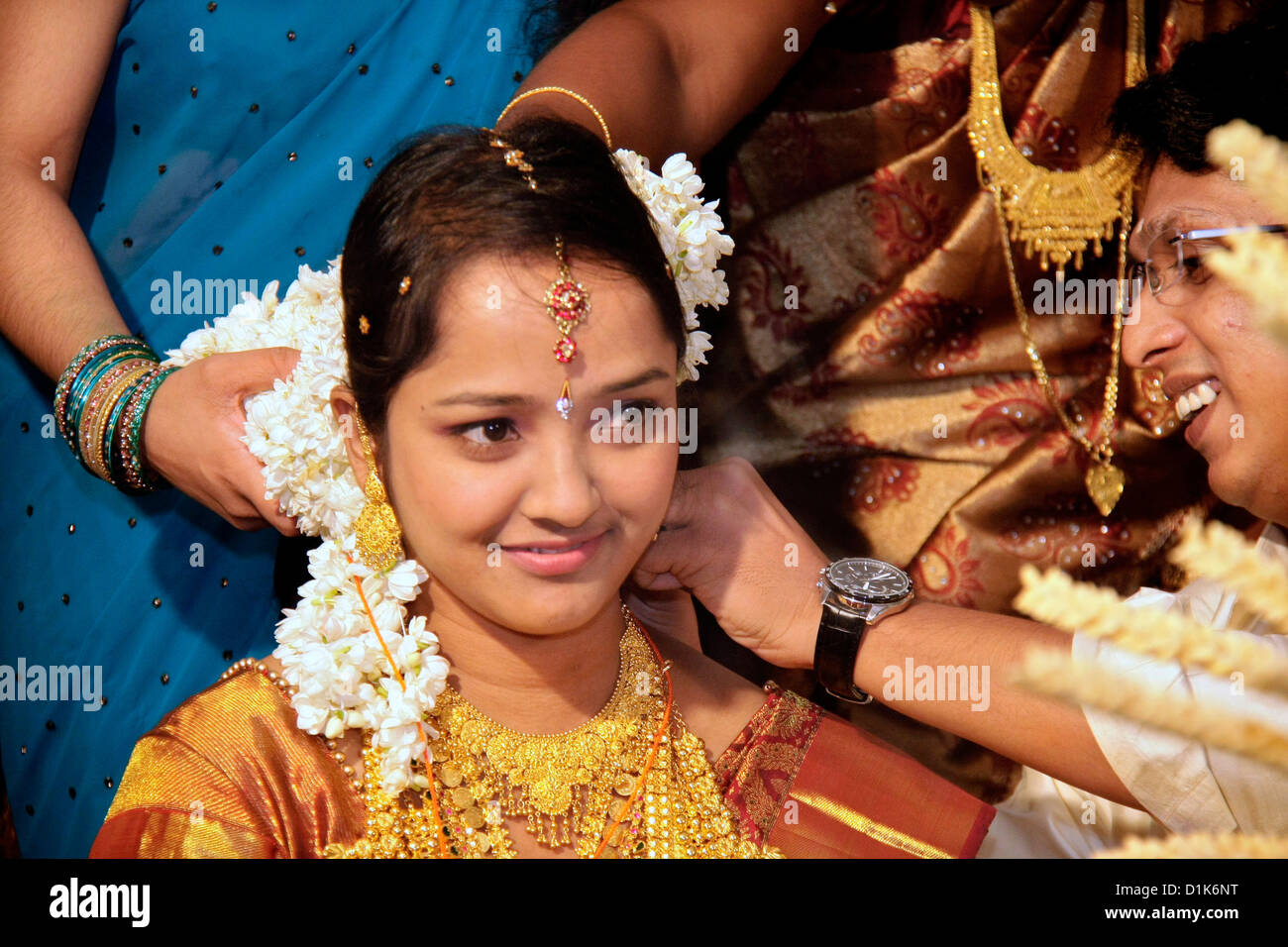 Tahlikettu Ceremony From A Traditional Indian Hindu
