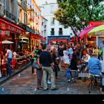 People In Restaurants At The Square Place Du Tertre Montmartre Stock Photo Alamy