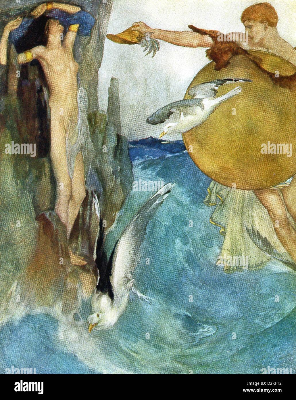 The Greek Hero Perseus Rescues Andromeda The Daughter Of