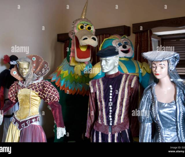Mardi Gras Costumes In A Museum In Mazatlanmexico