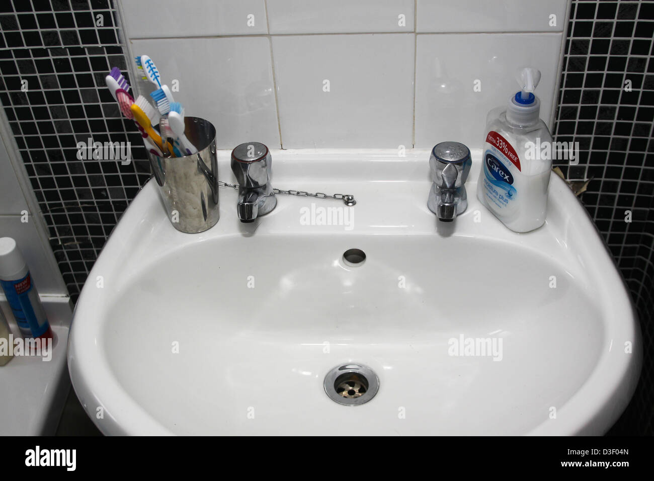 https www alamy com stock photo domestic wash hand basin in toilet 53804485 html