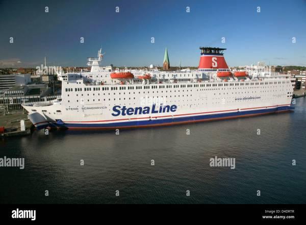 (dpa file) The ferry 'Stena Scandinavia' of the world's ...