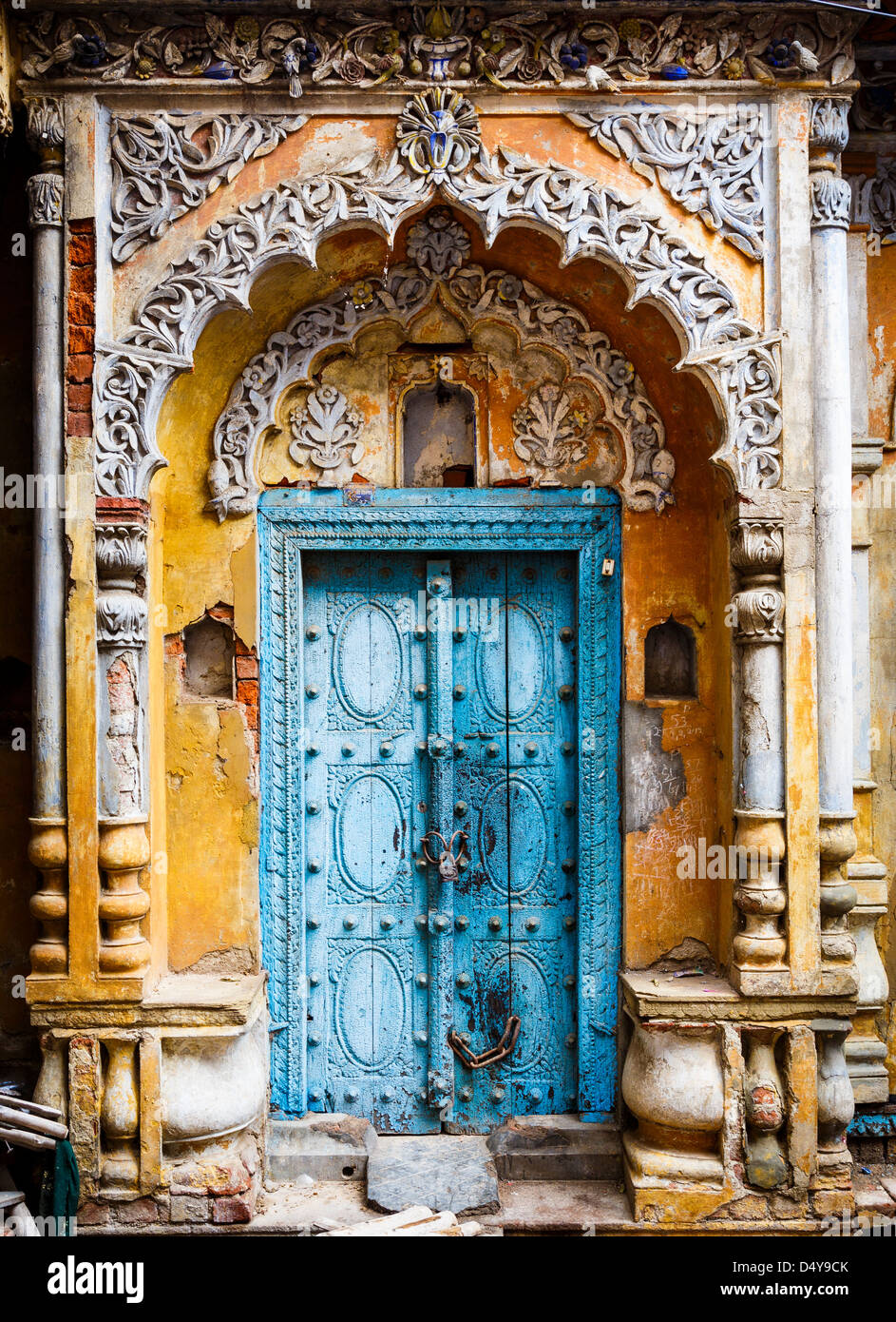 A Beautiful Old Door Of A Palace In The Old Town Of