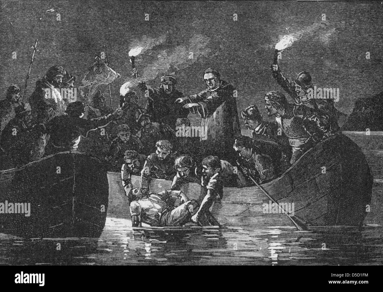 Burial Of Hernando De Soto Stock Photo Royalty Free