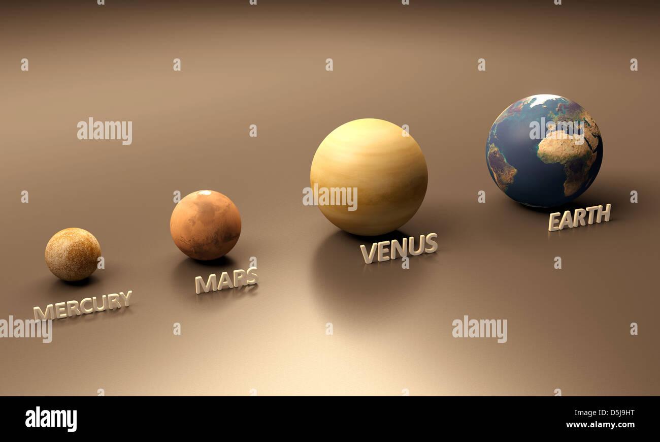 Earth Mars Comparison Stock Photos Amp Earth Mars Comparison