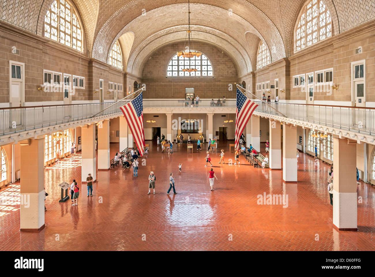 Registry Room Ellis Island Immigration Museum Statue Of