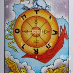 Tarot Card Wheel Of Fortune Stock Photo Alamy
