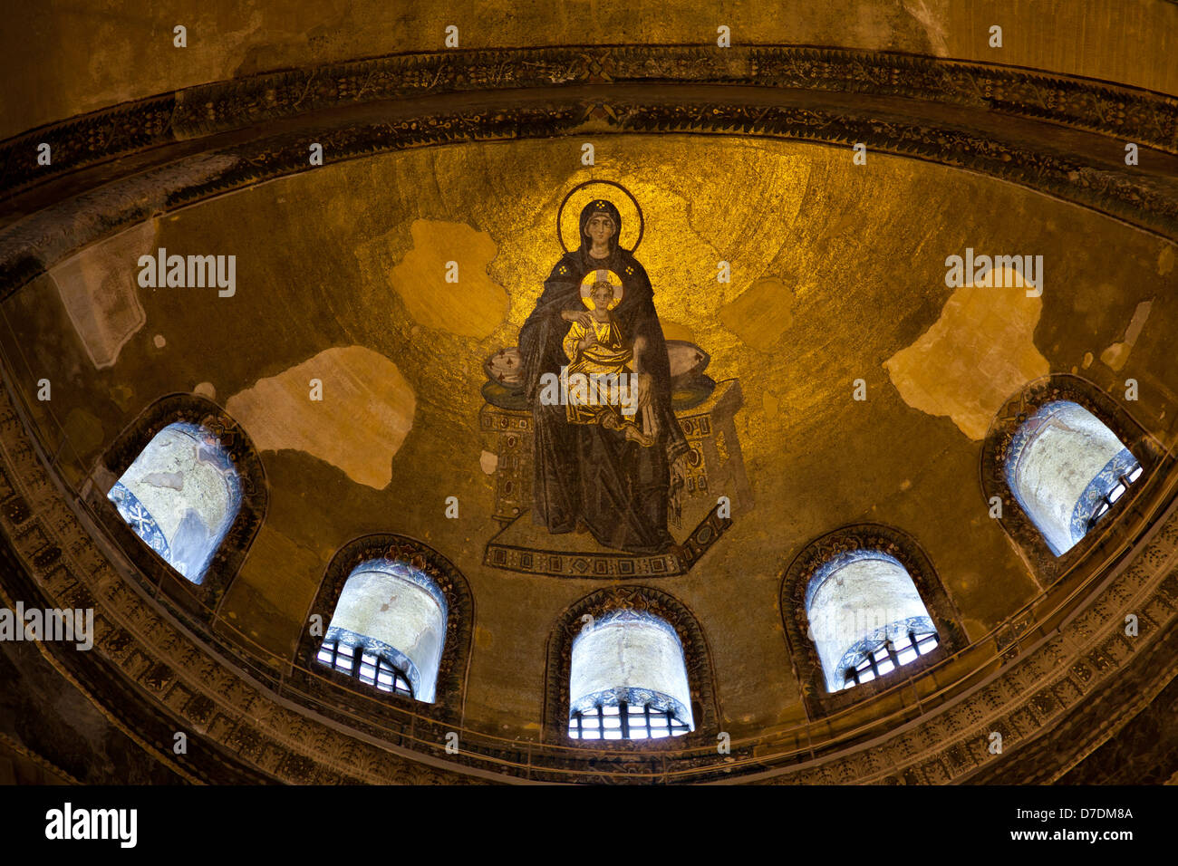 Virgin Mary And Child Christ The Apse Mosaic Hagia Sophia Stock Photo Royalty Free Image