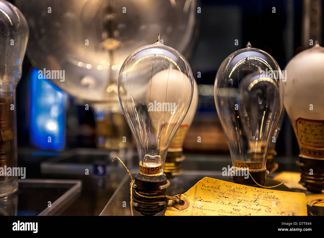 Thomas Edison Light Bulbs With Hand Written Lab Notes On