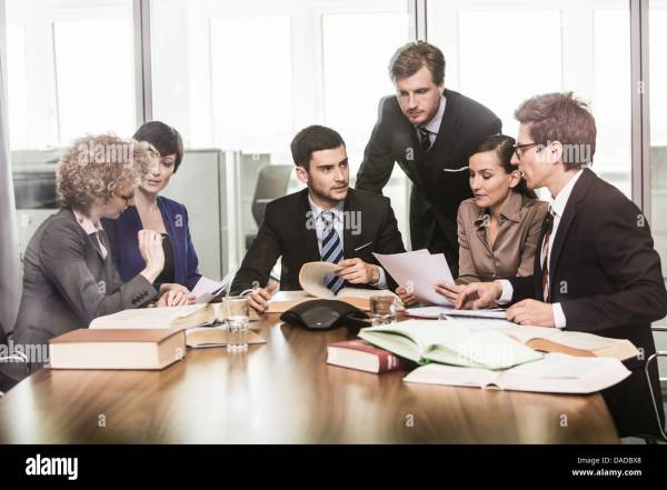 Lawyers in meeting Stock Photo: 58072400 - Alamy