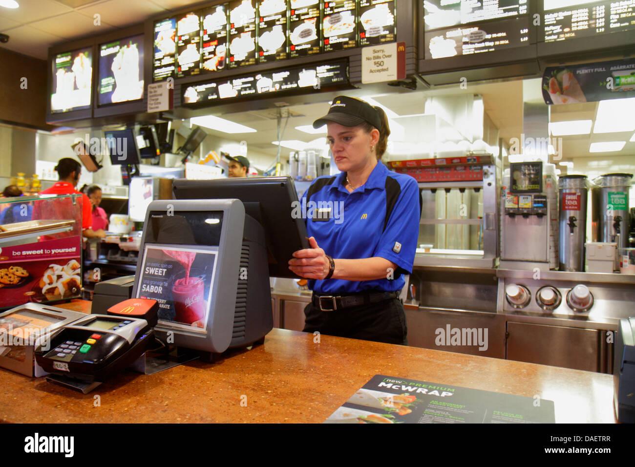 Miami Homestead Florida McDonalds Fast Food Restaurant