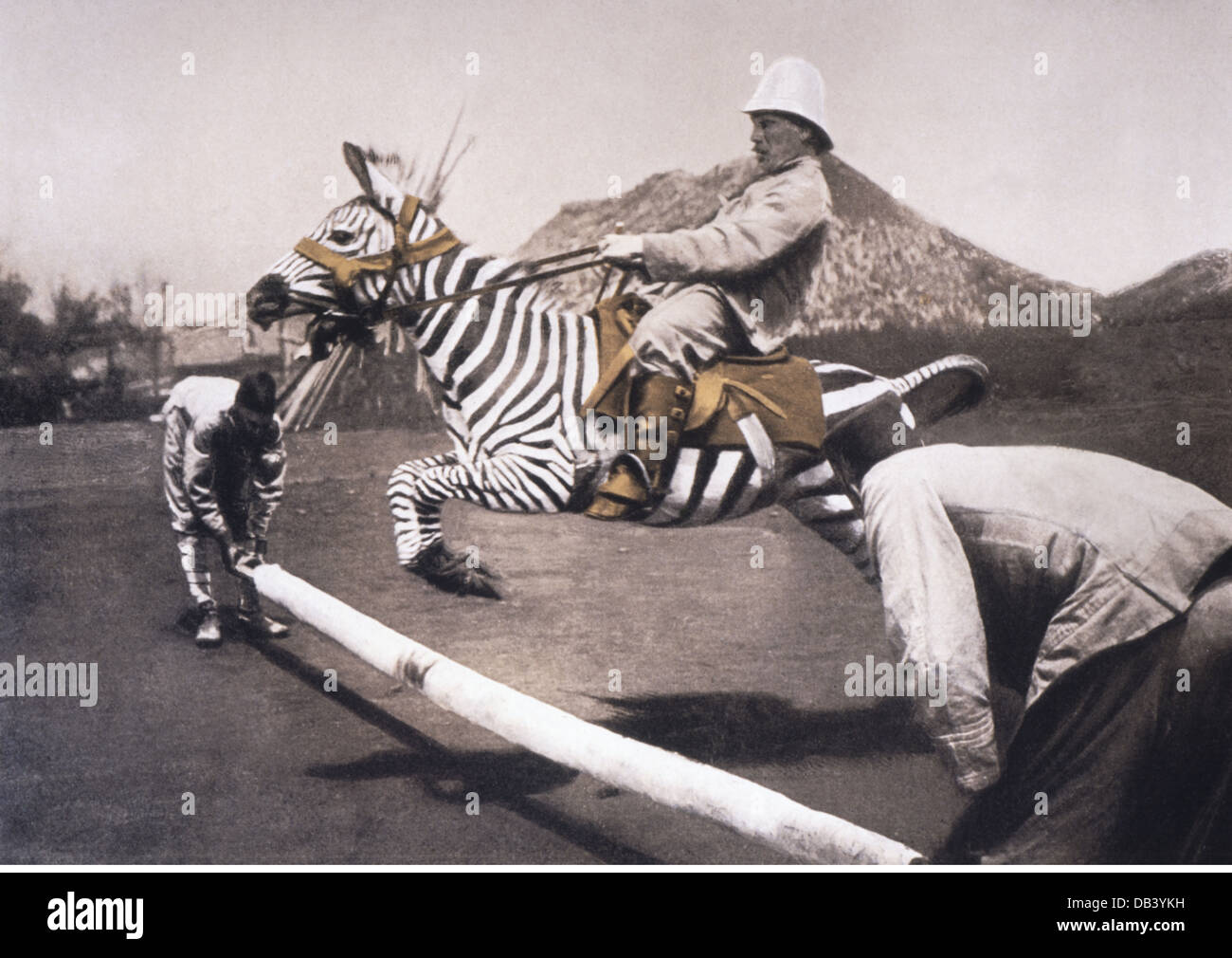 Colonialism German East Africa Sports Zebra Riding