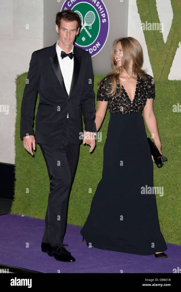 Andy Murray, and his partner Kim Sears arrive for the ...