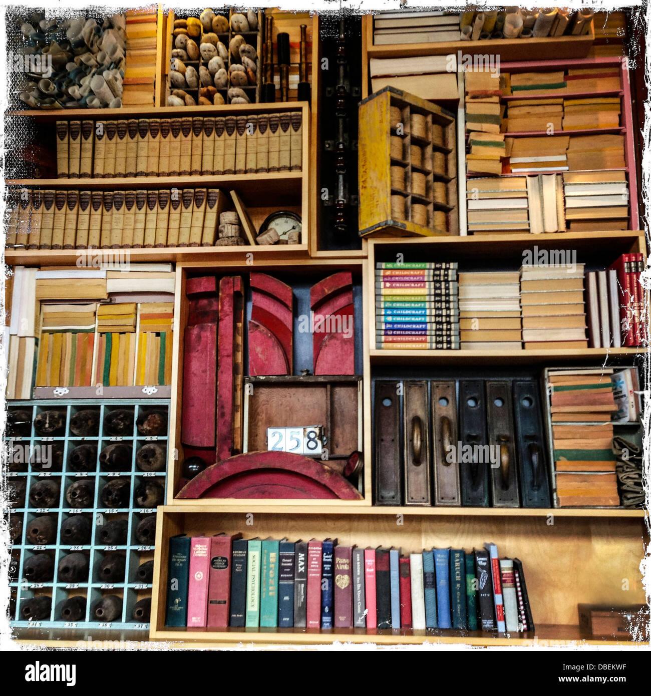 https www alamy com stock photo bookshelf with wine rack 58715259 html