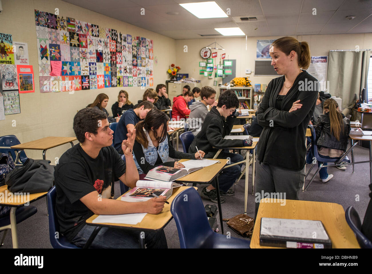 California High School English Teacher Assists Her