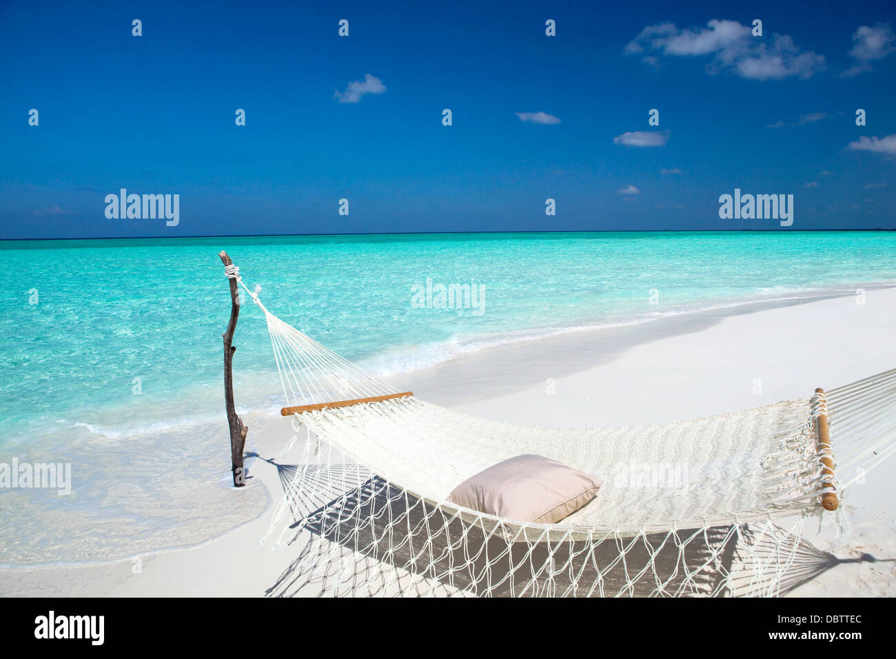 Hammock Tropical Beach Maldives Indian Stock Photos