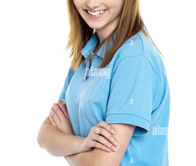 Profile Shot Of A Cute Smiling Teenage Girl