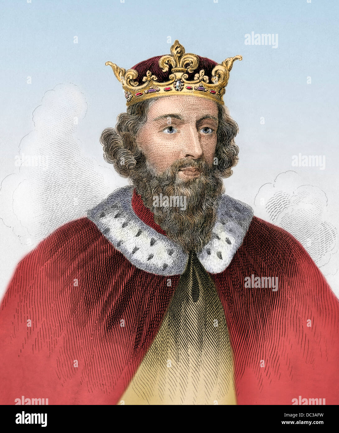 Alfred The Great King Of Wes800s A D Stock Photo