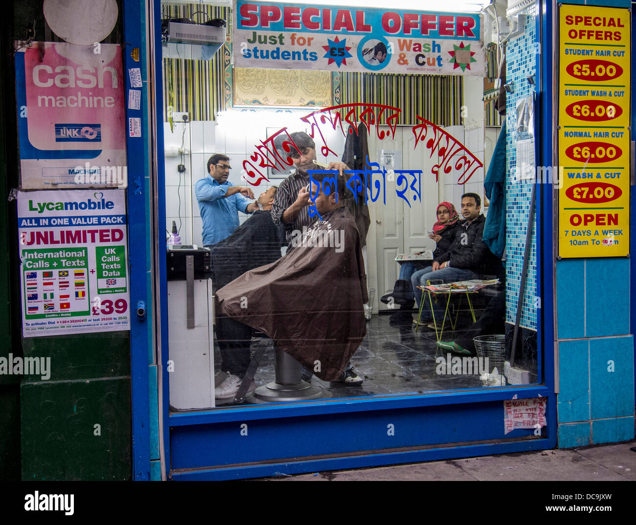 https www alamy com stock photo window of a barber shop in brick lane london 59219409 html