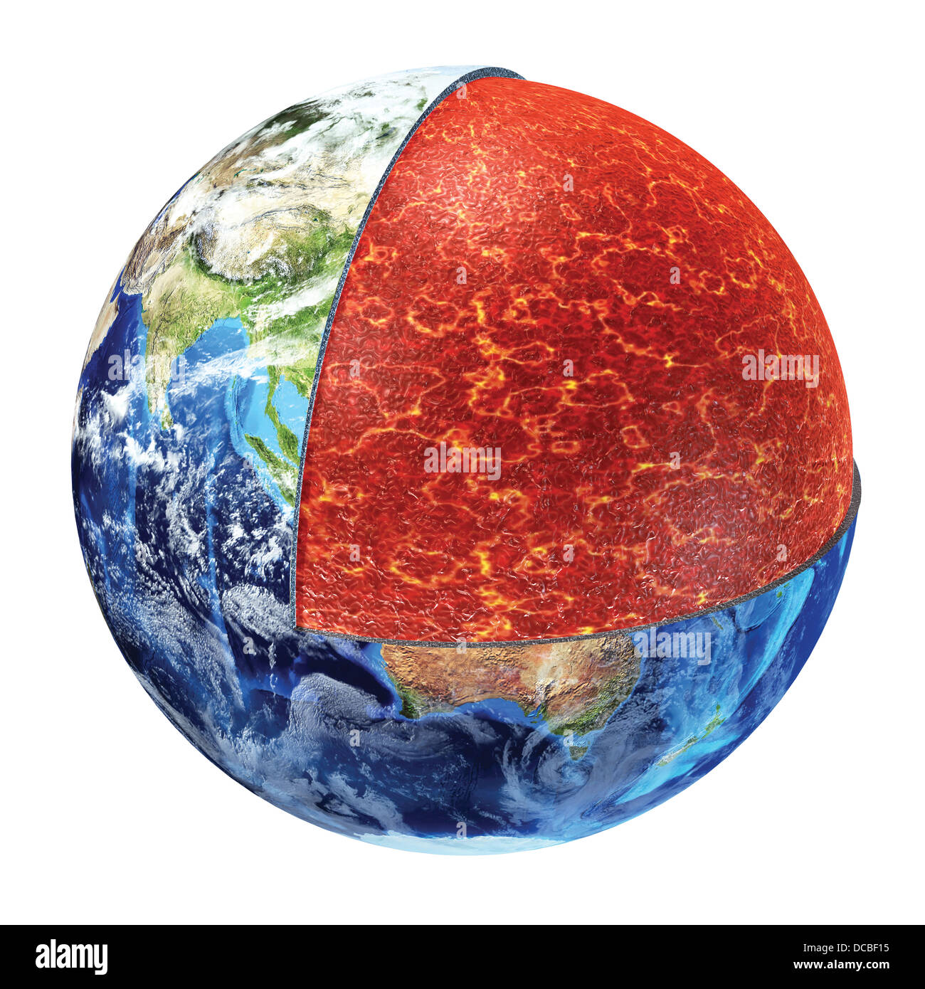 Earth Cross Section Showing The Upper Mantle Made By