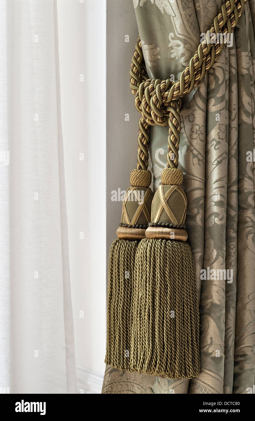 https www alamy com stock photo a curtain tie back with heavy embroidered silk tassels london uk 59543456 html
