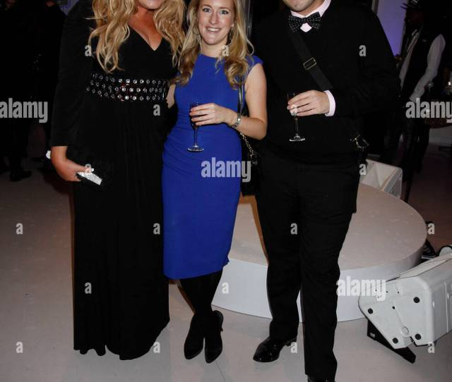 James Argent Aka Arg And Gemma Collins With Katie Banks From Closer Mag A Night With Nick In Aid Of The Stroke Association Held At Swarovski Inside
