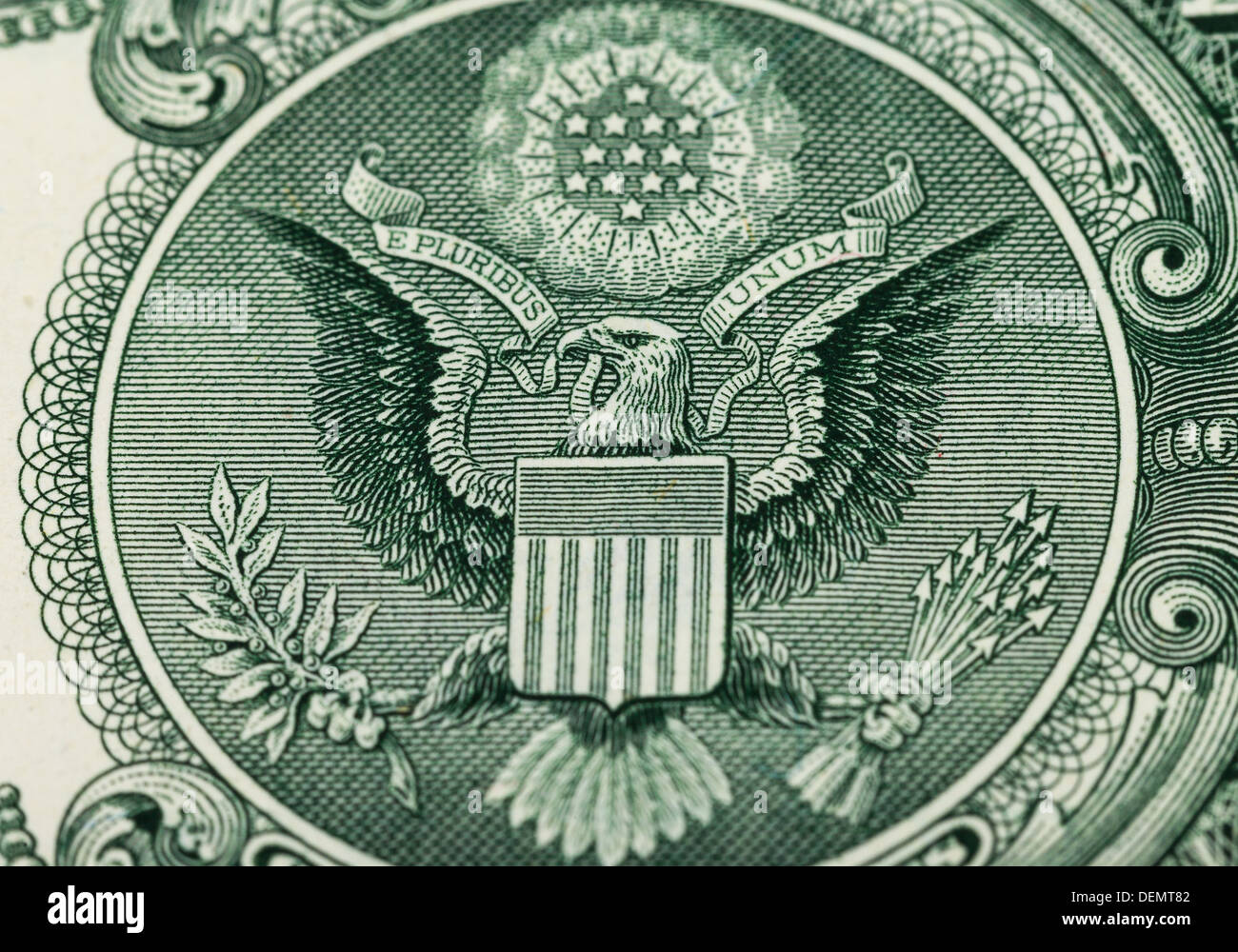 Great Seal Of The United States On The Reverse Of A Us