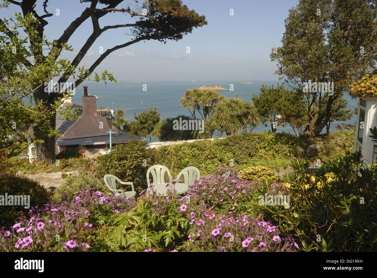 Cottages Garden Herm Island Bailiwick Of Guernsey