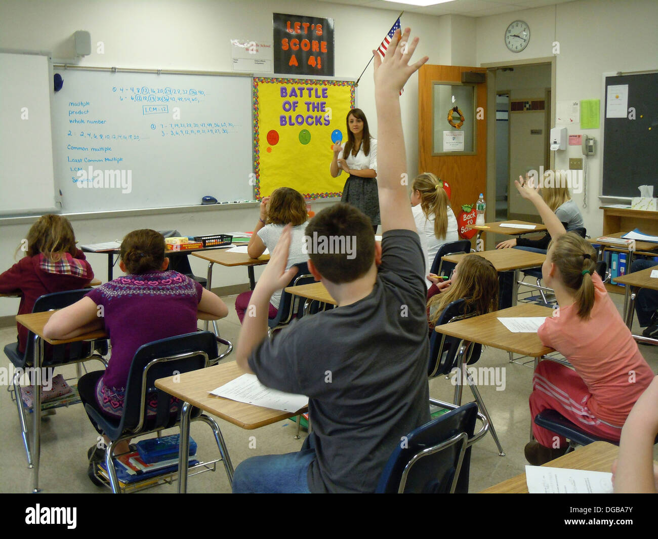 Middle School Math Classroom Stock Photo Royalty Free