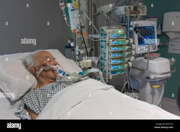 Intensive care of an elderly patient on a life support ...
