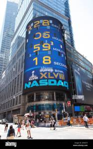 nasdaq times square new york city high resolution stock photography and images alamy