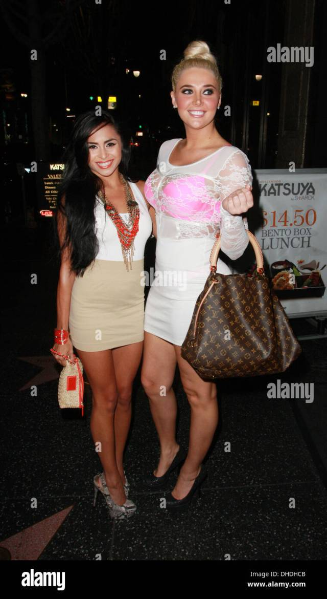 Michelle Maylene And Kristina Shannon Outside Katsuya In Hollywood To Celebrate Breanne Bensons Birthday Los Angeles