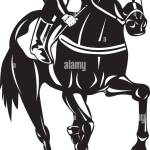 Illustration Of A Horse And Jockey Racing Silhouette On Isolated Stock Photo Alamy