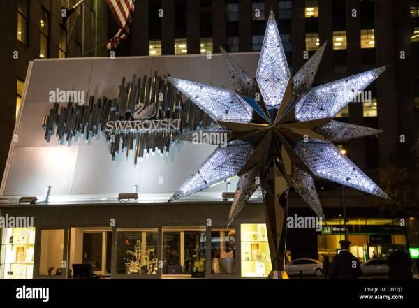 Swarovski Crystal Christmas Tree Star Replica, Rockefeller ...